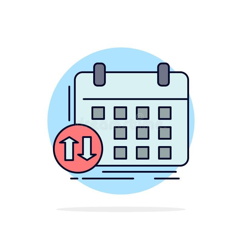 programação, classes, calendário, nomeação, vetor liso do ícone da cor do evento ilustração royalty free