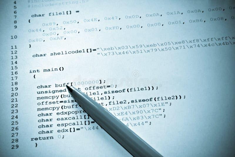 Programação de computador imagem de stock