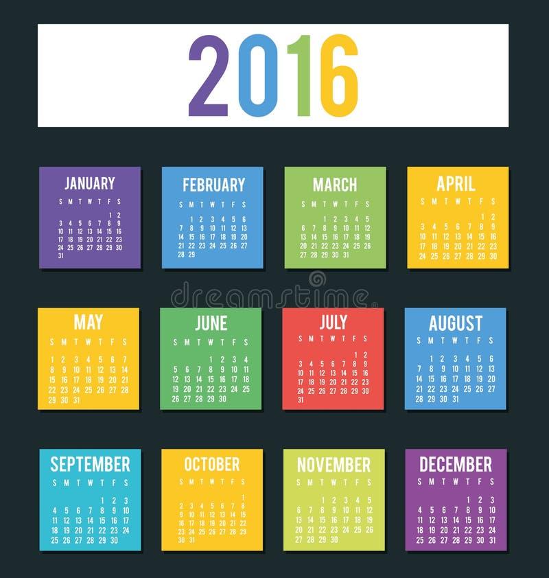Programação do calendário do ano novo ilustração stock