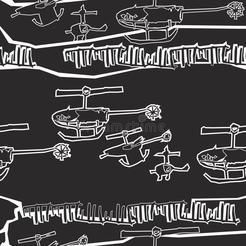 Programação dos helicópteros ilustração stock