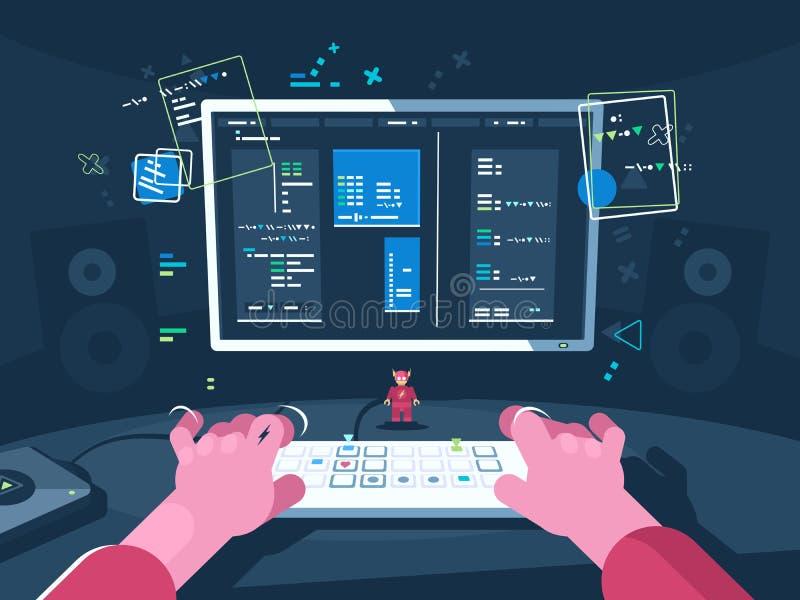 Programação e codificação ilustração royalty free