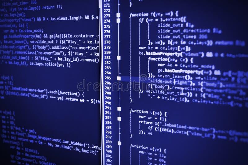 Programação impedindo cortes na segurança do Internet imagem de stock