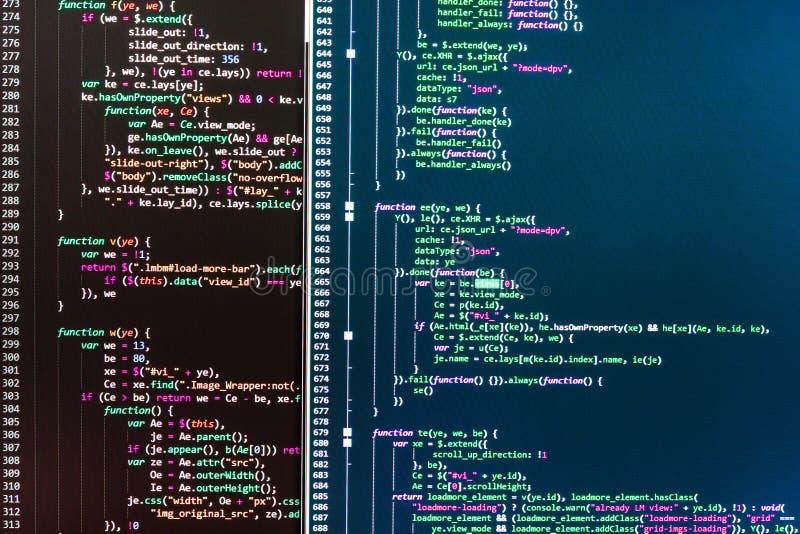 Programação impedindo cortes na segurança do Internet ilustração do vetor