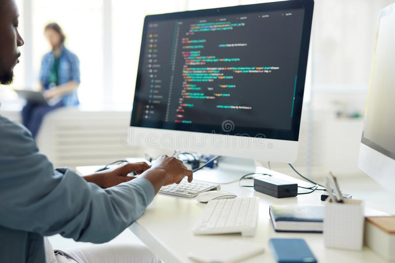 Programação informática imagens de stock
