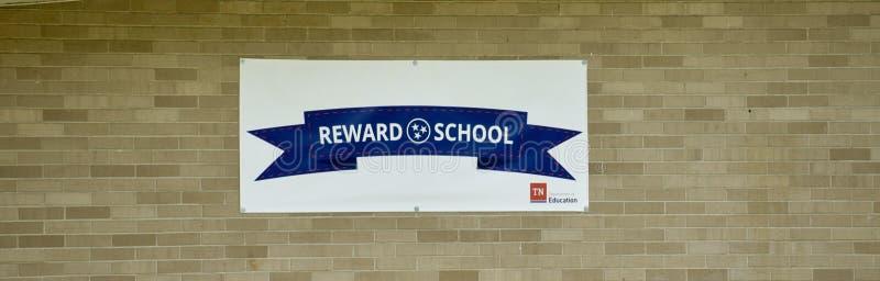 Programa da escola da recompensa de Tennessee imagem de stock