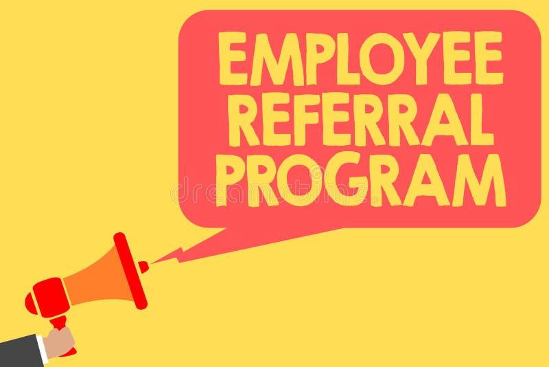 Programa da referência do empregado do texto da escrita Os empregados do significado do conceito recomendam o homem qualificado d ilustração royalty free