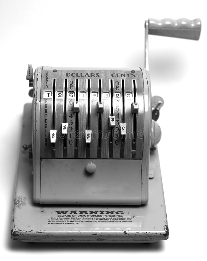 Programa de escritura de verificación fotografía de archivo