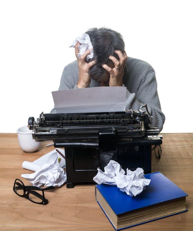 Programa de escritura frustrado imagenes de archivo