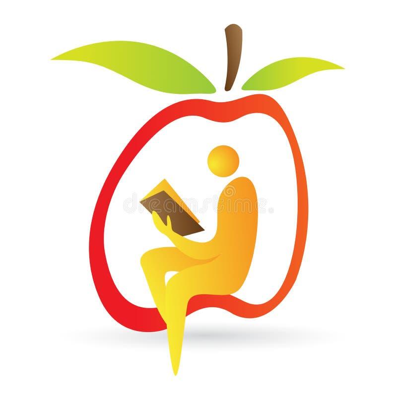 Programa de lectura stock de ilustración