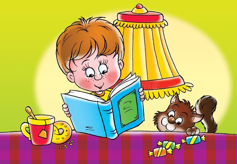 Programa de lectura ilustración del vector