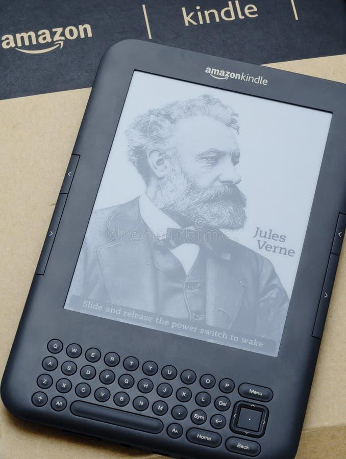 Programa de lectura de Ebook - el Amazonas enciende imagen de archivo