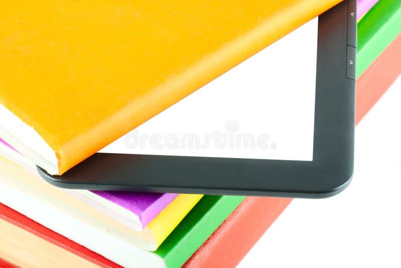 programa de lectura del E-libro con los libros fotos de archivo libres de regalías