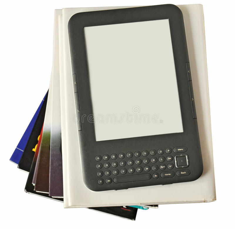Programa de lectura digital de Ebook fotografía de archivo