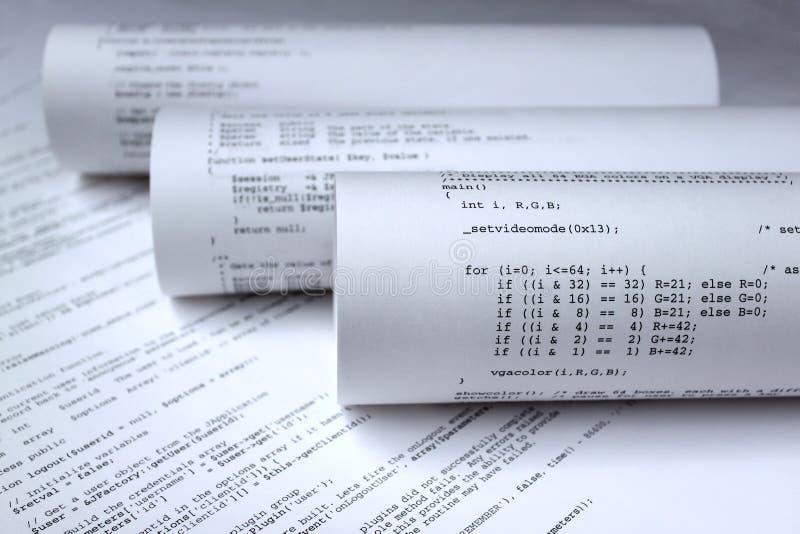 Programa de los programas informáticos  imagenes de archivo