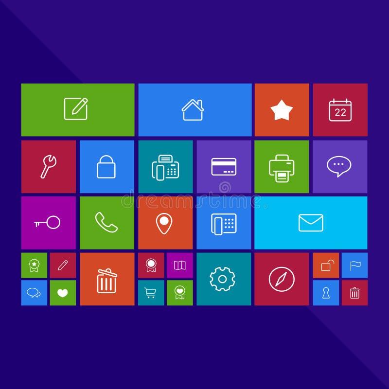 Programa de moda del app del ordenador o de la aplicación móvil del busine plano ilustración del vector