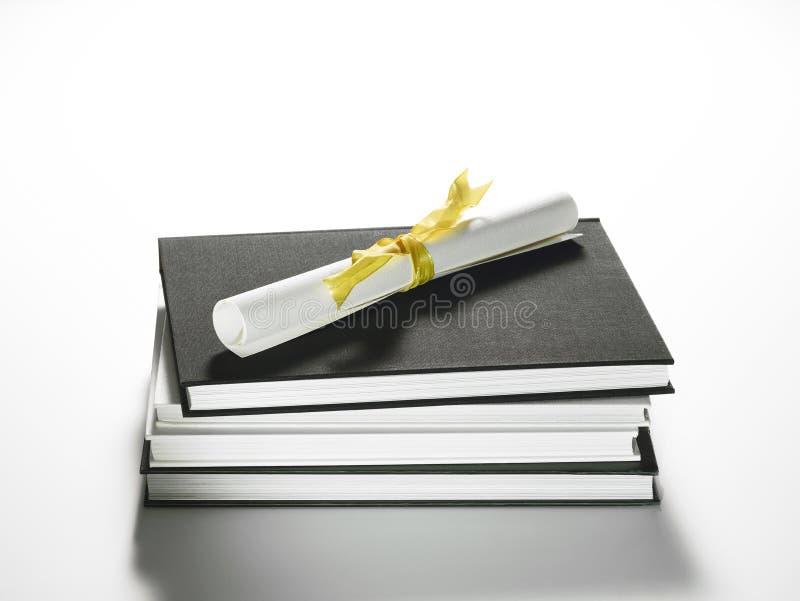 Programa del diploma imagen de archivo libre de regalías