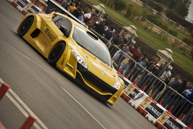 Programa demonstrativo do troféu de Bucareste Megane da mostra de estrada de Renault fotos de stock