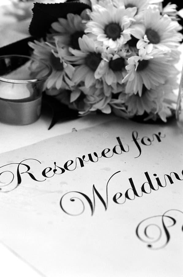 Programa do casamento imagens de stock royalty free