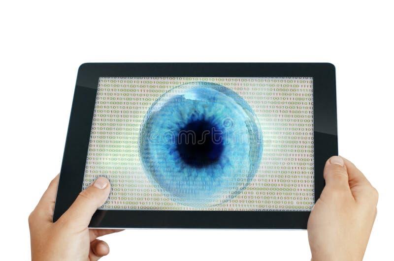 Programa do olho do espião fotografia de stock royalty free