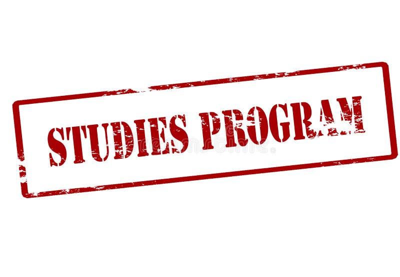 Programa dos estudos ilustração stock