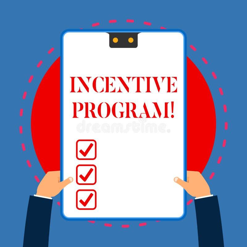 Programa incentivo de la escritura del texto de la escritura Esquema específico del significado del concepto usado para promover  ilustración del vector