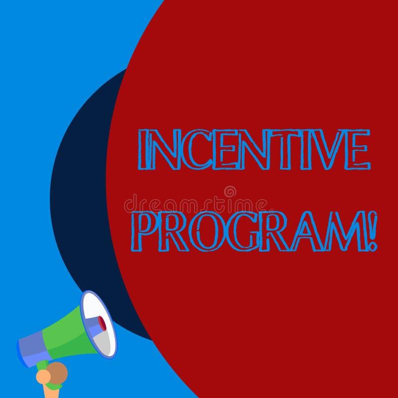 Programa incentivo del texto de la escritura Esquema específico del significado del concepto usado para promover la cierta acción libre illustration