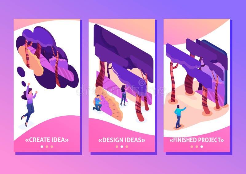 Programa isométrico para criar as ilustrações 3D ilustração do vetor