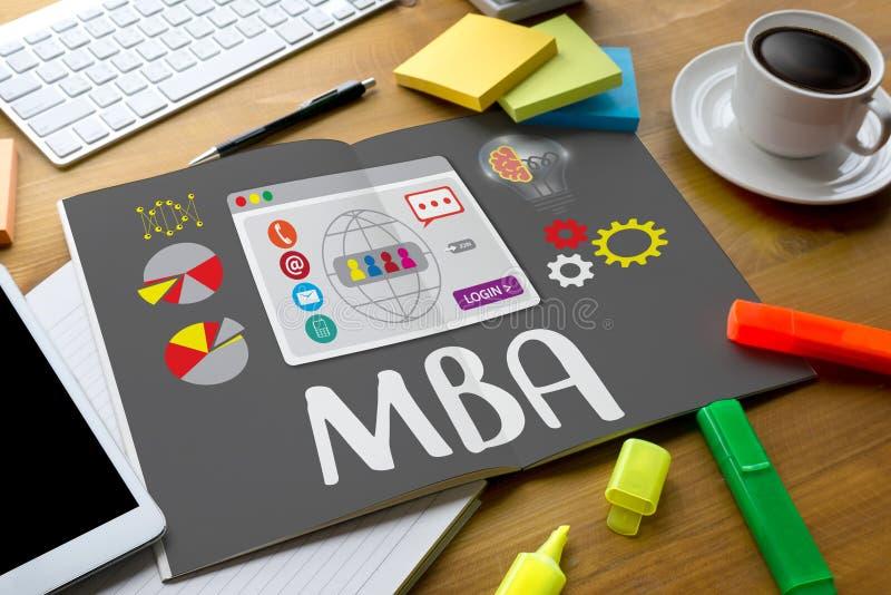 Programa MBA, educación Ca del master en administración de empresas de MBA libre illustration