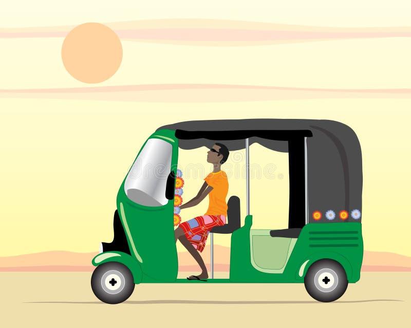 Programa piloto auto del carrito ilustración del vector