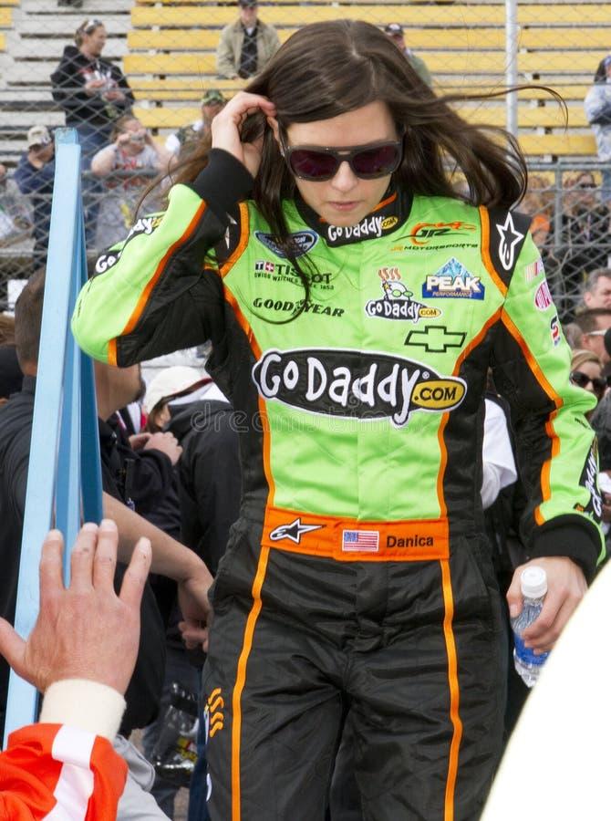 Programa piloto Danica Patrick de NASCAR foto de archivo