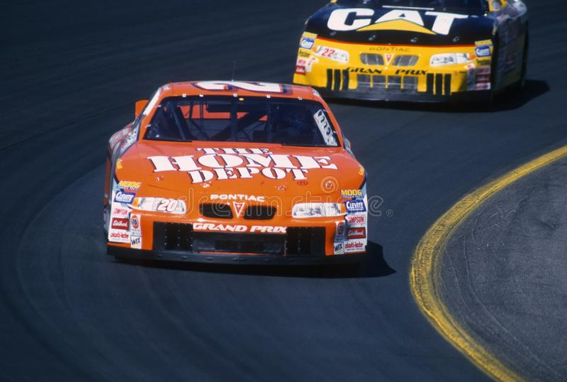 Programa piloto de Tony Stewart NASCAR foto de archivo