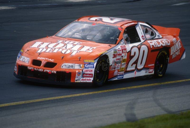 Programa piloto de Tony Stewart NASCAR imagenes de archivo