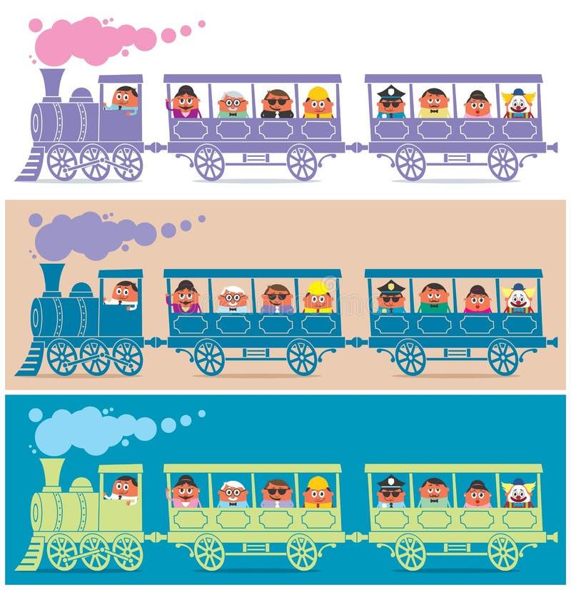 Programa piloto del tren del vapor ilustración del vector