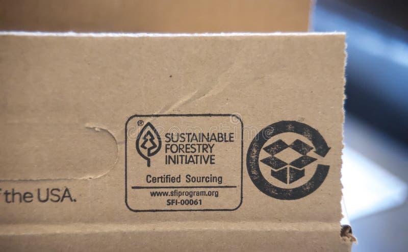 Programa preliminar de la silvicultura sostenible imágenes de archivo libres de regalías