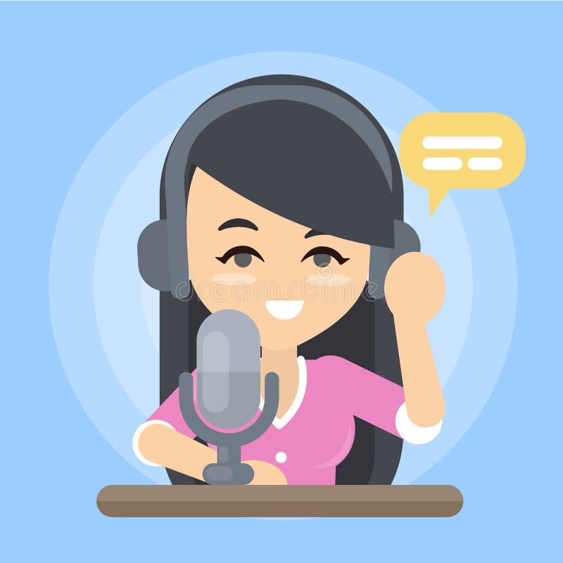 Programa radiowego podawca ilustracja wektor