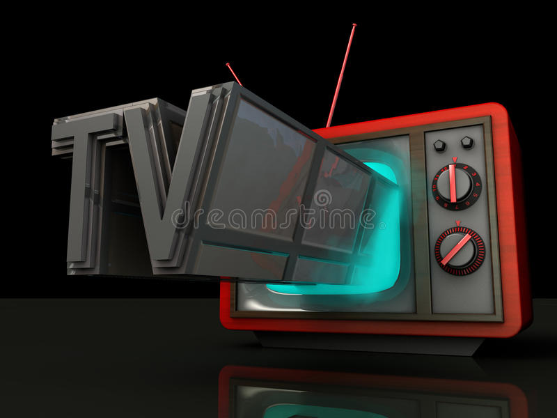Programa televisivo ilustração royalty free