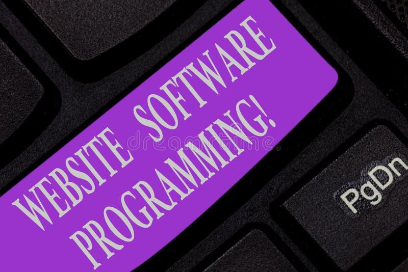 Programación de la página web de la escritura del texto de la escritura Concepto que significa la codificación o que la programa  imagenes de archivo