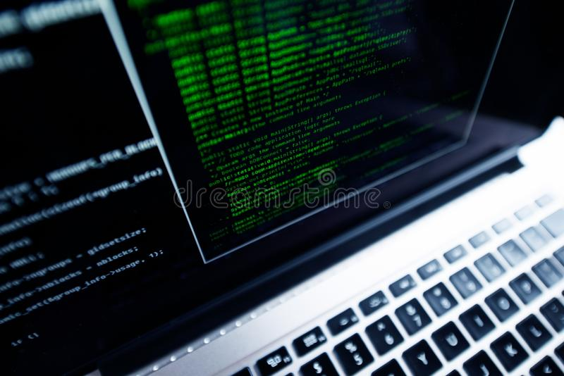 Programación informática imagen de archivo libre de regalías