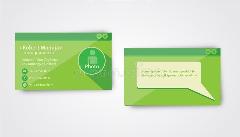 Programador Business Card Template ilustração do vetor
