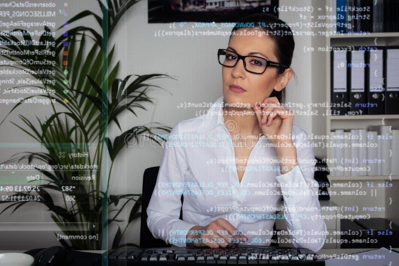 Programador de computador novo imagem de stock