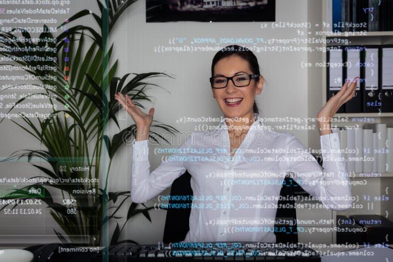 Programador de computador novo fotografia de stock royalty free