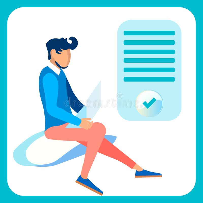 Programador, diseñador web Flat Vector Illustration ilustración del vector
