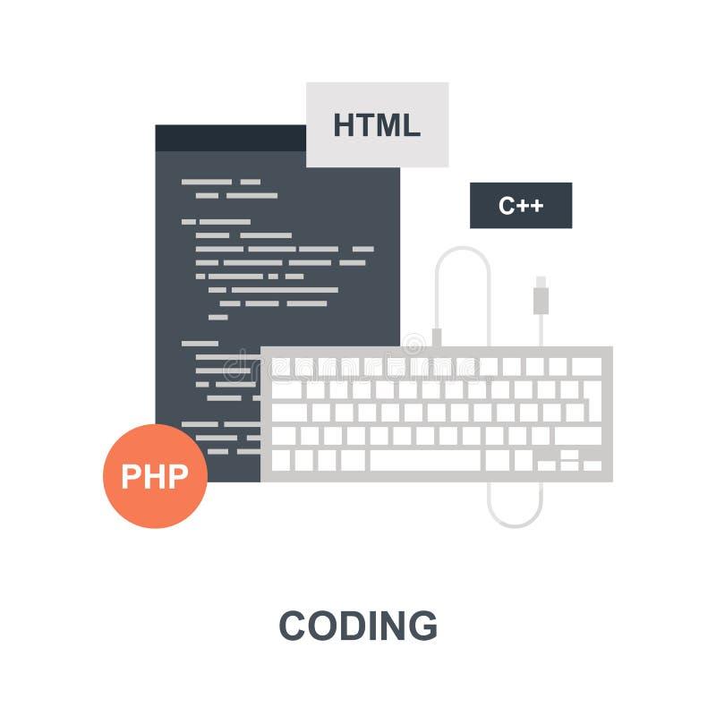 Programe a codificação do conceito do ícone ilustração stock