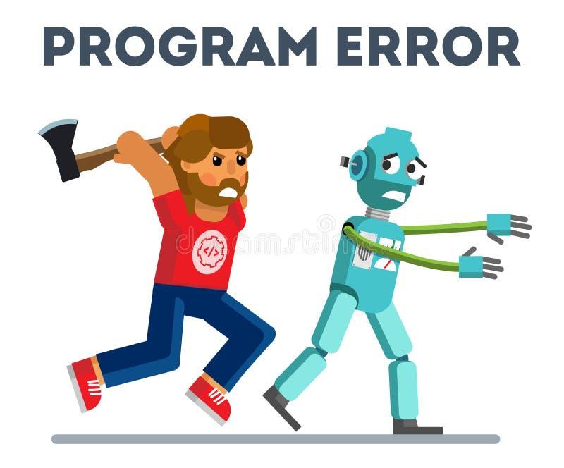 Programfel stock illustrationer