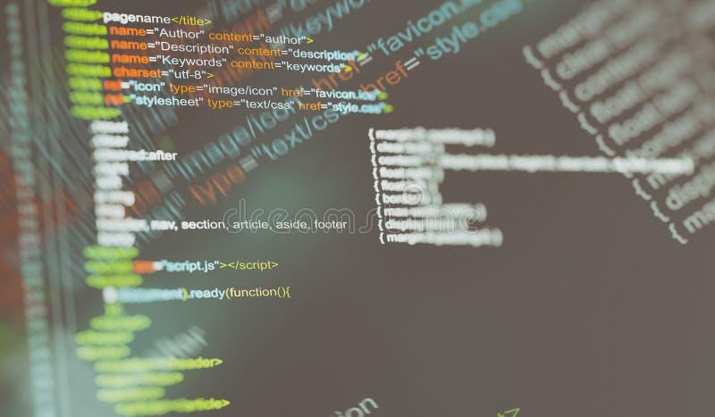 Programing code background. stock photography