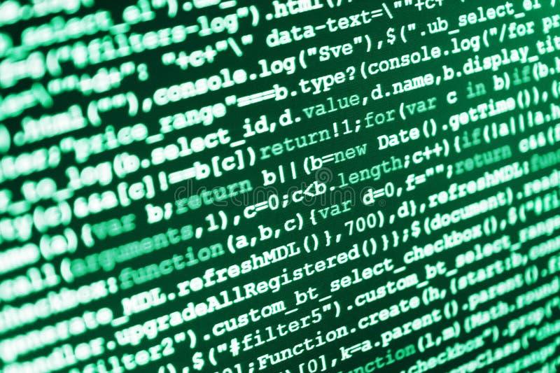 Programing workflow abstract algorithm. Computer code data. Programing workflow abstract algorithm stock photo