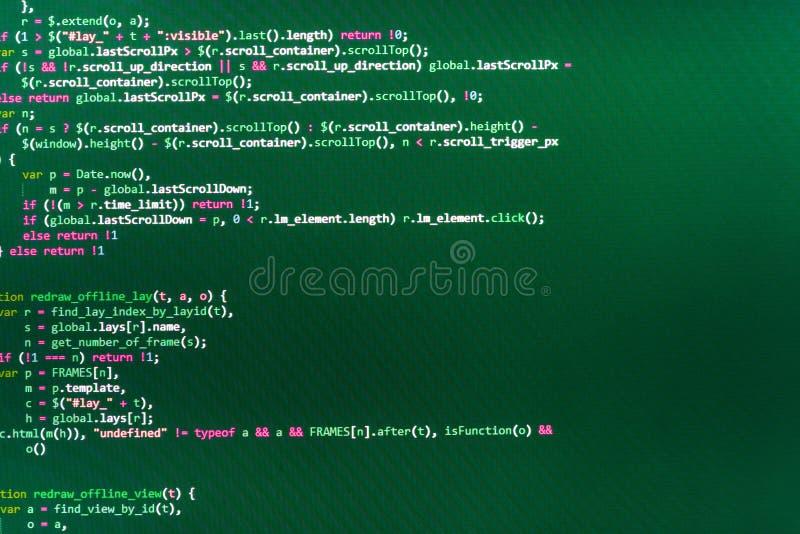 Programing workflow abstract algorithm concept. stock photo