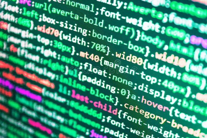 Programing workflow abstract algorithm concept. Digital technology on display. Abstract computer script code. Developing programming royalty free stock photos
