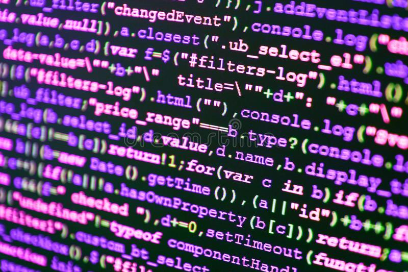 Programing workflow abstract algorithm. Concept stock photography