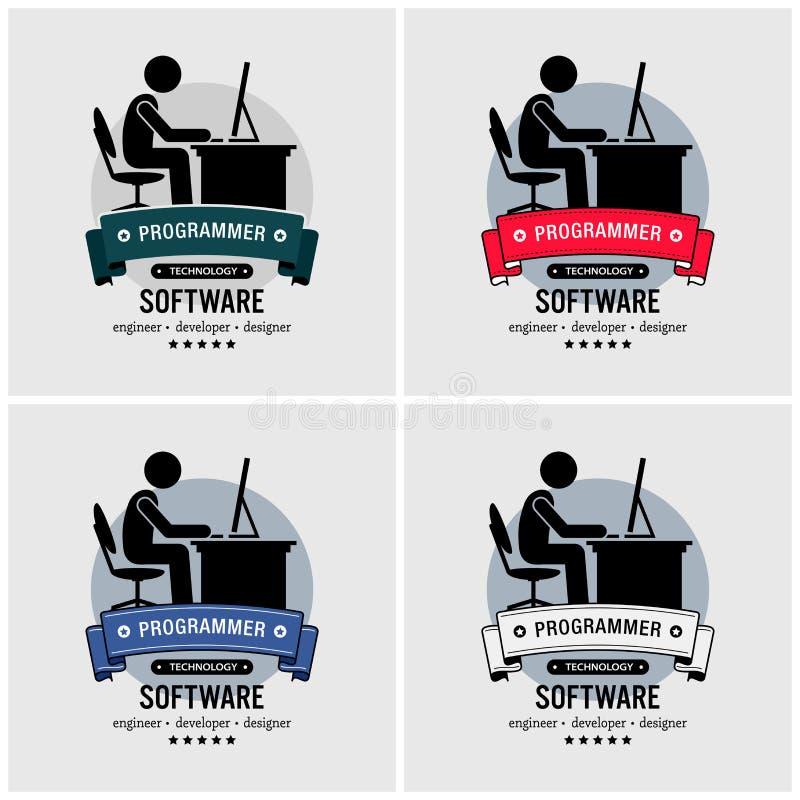 Programisty logo projekt royalty ilustracja